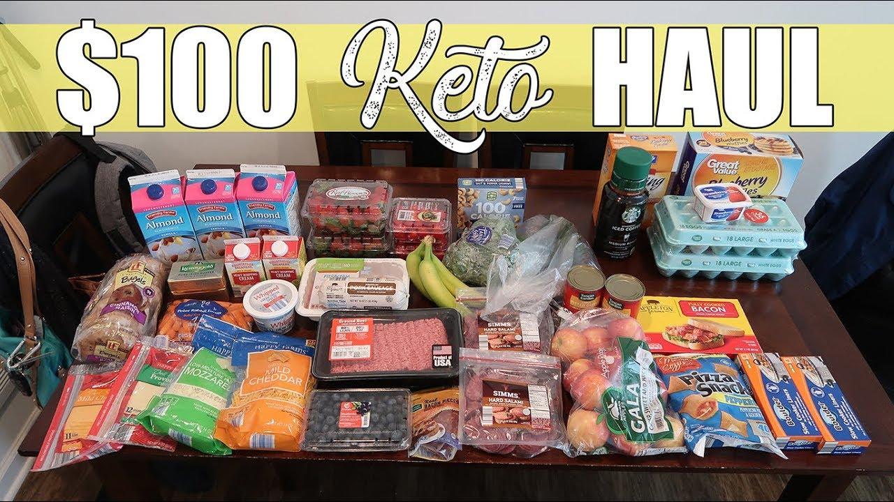 100 aldi keto grocery haul