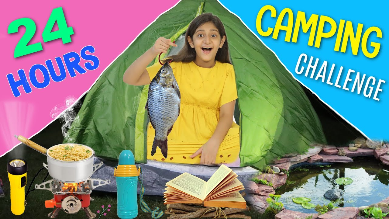 24 Hours FOREST/OUTDOOR CAMPING Challenge | MyMissAnand