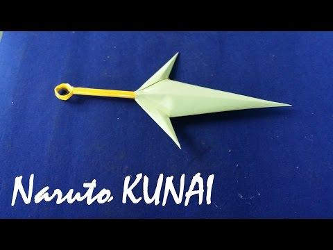 Make toys Naruto Kunai knives by Paper