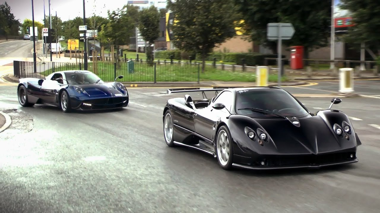 Amazing Supercar convoy from Pagani UK - YouTube