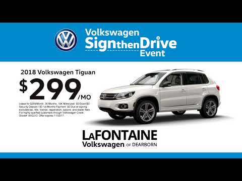 LaFontaine Volkswagen of Dearborn | Sign Then Drive Event | 2018 Tiguan