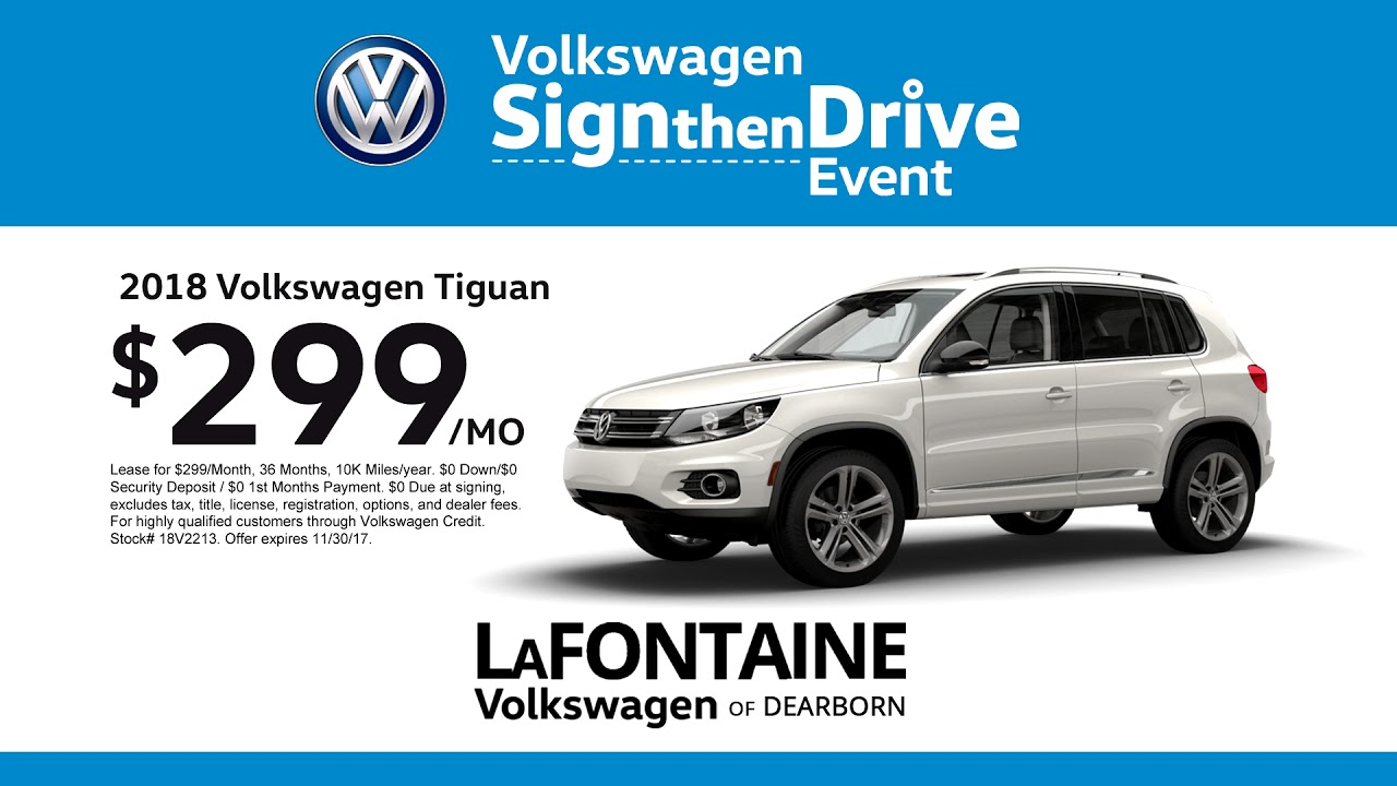 lafontaine volkswagen of dearborn | sign then drive event | 2018