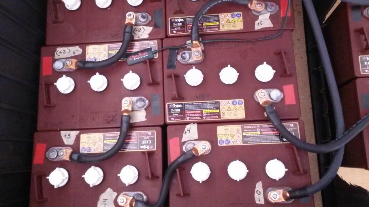 battery bank wiring 48v 225ah power station [ 1280 x 720 Pixel ]