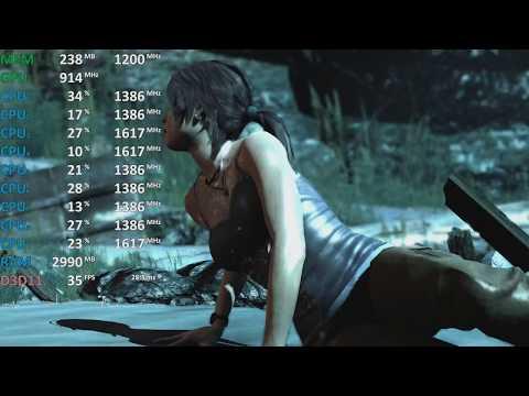 *impressive* Tomb Raider 1080p high AMD Ryzen 7 2700U Vega 10. Acer Swift 3 Gameplay Benchmark. Test