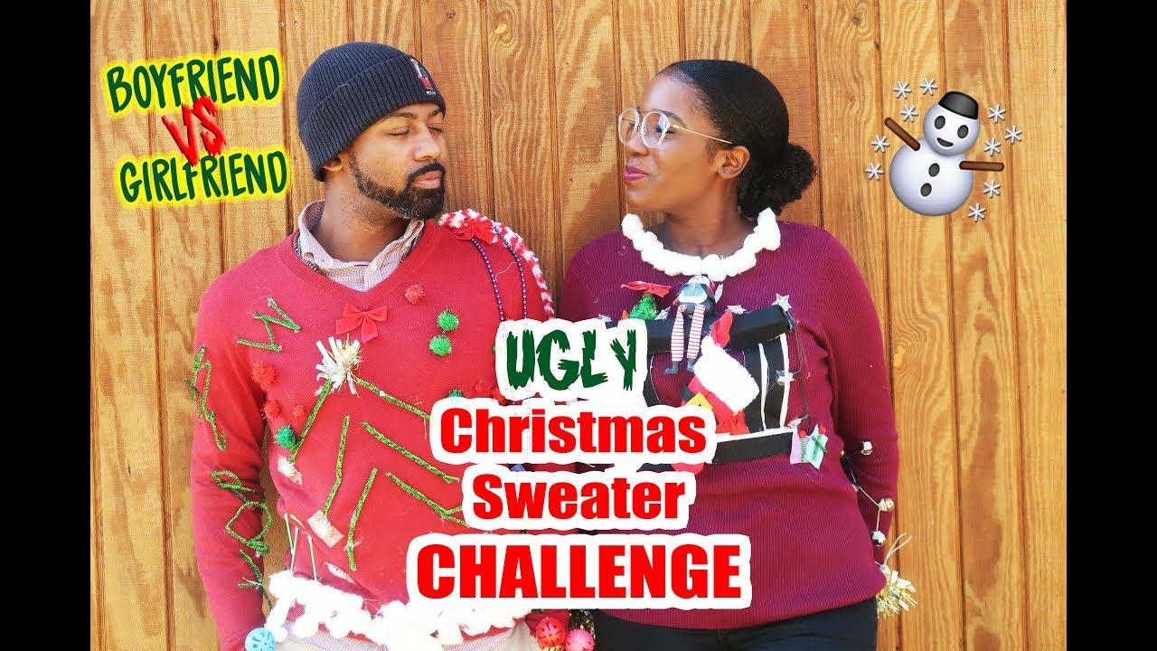 Ugly Christmas Sweater Challenge || Boyfriend VS Girlfriend - YouTube