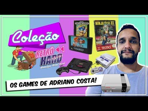 A COLEÇÃO DE GAMES DO ADRIANO COSTA!