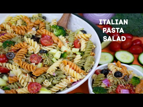 How To Make Zesty Italian Dressing Pasta Salad: Classic Italian Pasta Salad Recipe