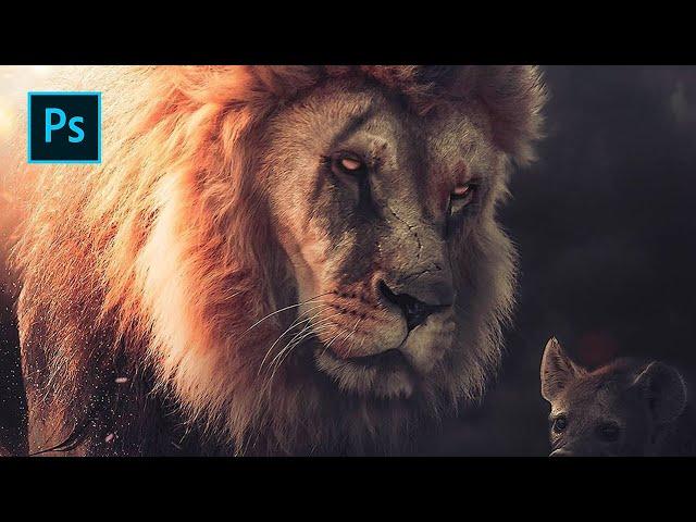 Photoshop & Lightroom Tutorial - The Lion King Scar