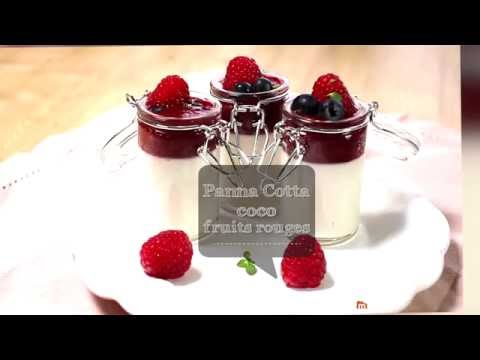 Panna cotta coco-fruits rouges