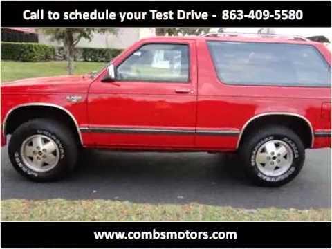 Used Cars Lakeland Fl >> 1989 Chevrolet S10 Blazer Used Cars Lakeland FL - YouTube