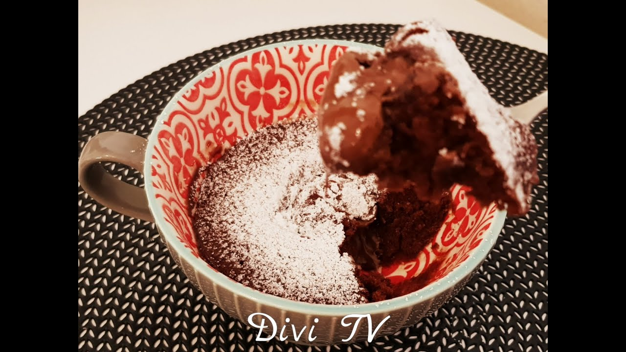 1min Tassenkuchen/ Schoko   Nutella Kuchen in der ...