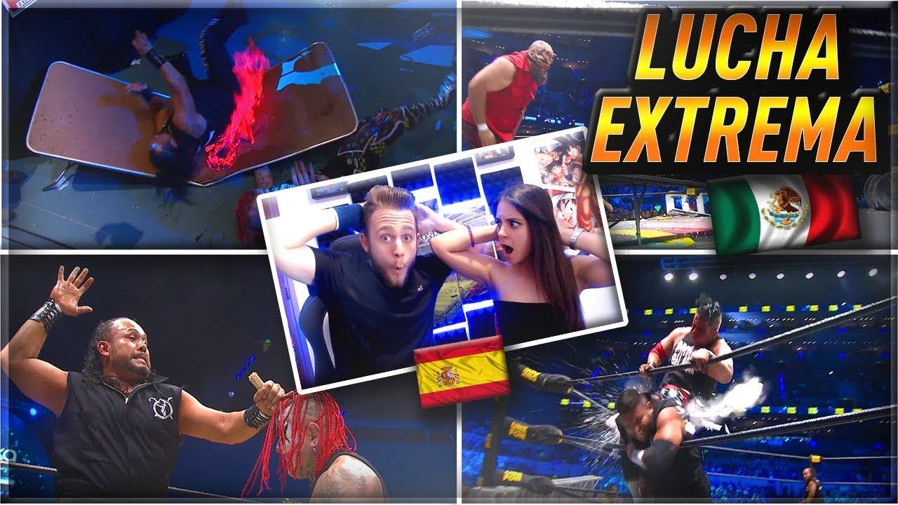 ESPAÑOLES REACCIONAN a LUCHA EXTREMA MEXICANA!! | Triplemanía XXVI