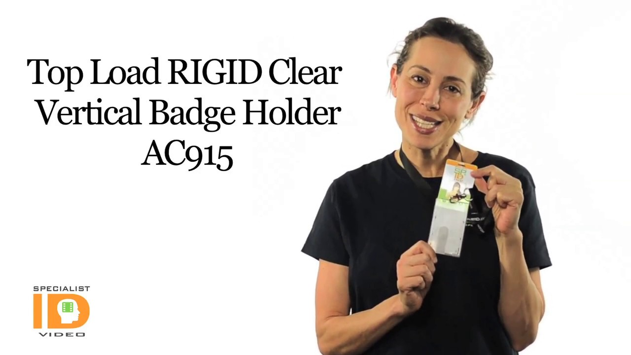 Heavy Duty 2-Sided Rigid Multi Card Vertical Badge Holder by Specialist ID