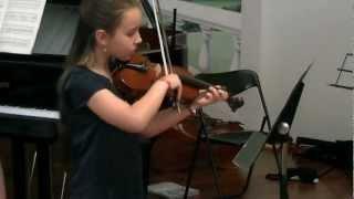 Martina, 8 anni  violino Curci Concertino in la minore
