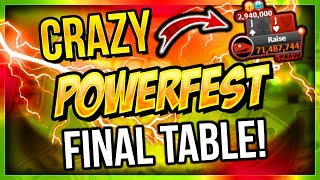 CRAZY POWERFEST FINAL TABLE!!!! | PokerStaples Stream Highlights