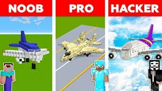 Minecraft NOOB vs PRO vs HACKER: AIRPLANE CHALLENGE in Minecraft / Aircraft animation
