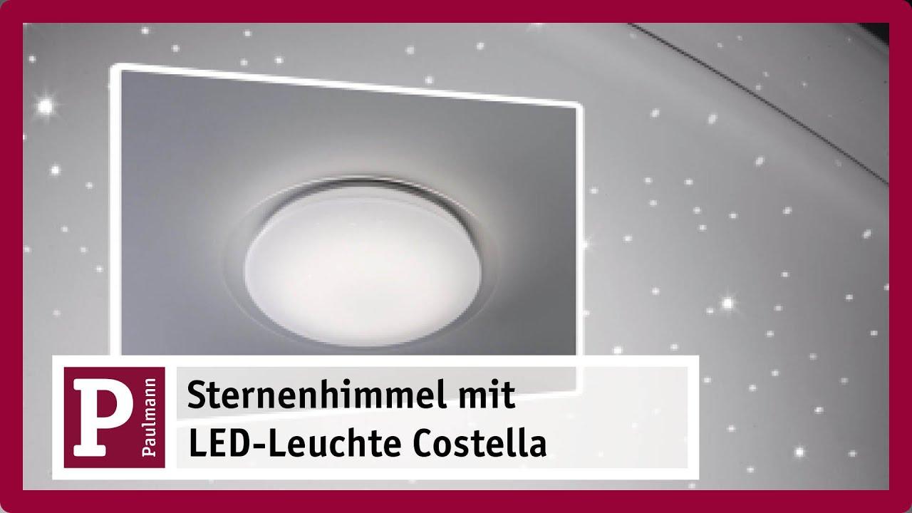 Led Deckenleuchte Costella Mit Sternenhimmel Youtube
