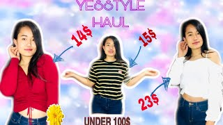 Basic YESSTYLE try-on haul | Summer clothes under $100