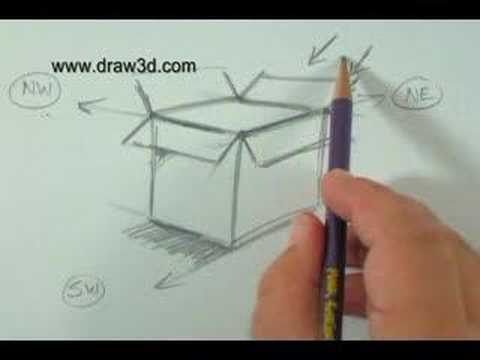 Easy Box Drawing Ideas A Simple 3d Box Sketch For