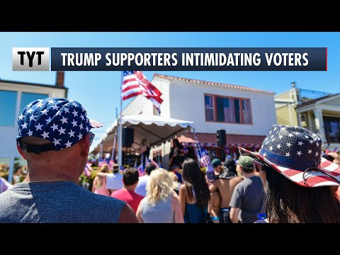 Trump Supporters Trying To Intimidate Early Voters at Polls