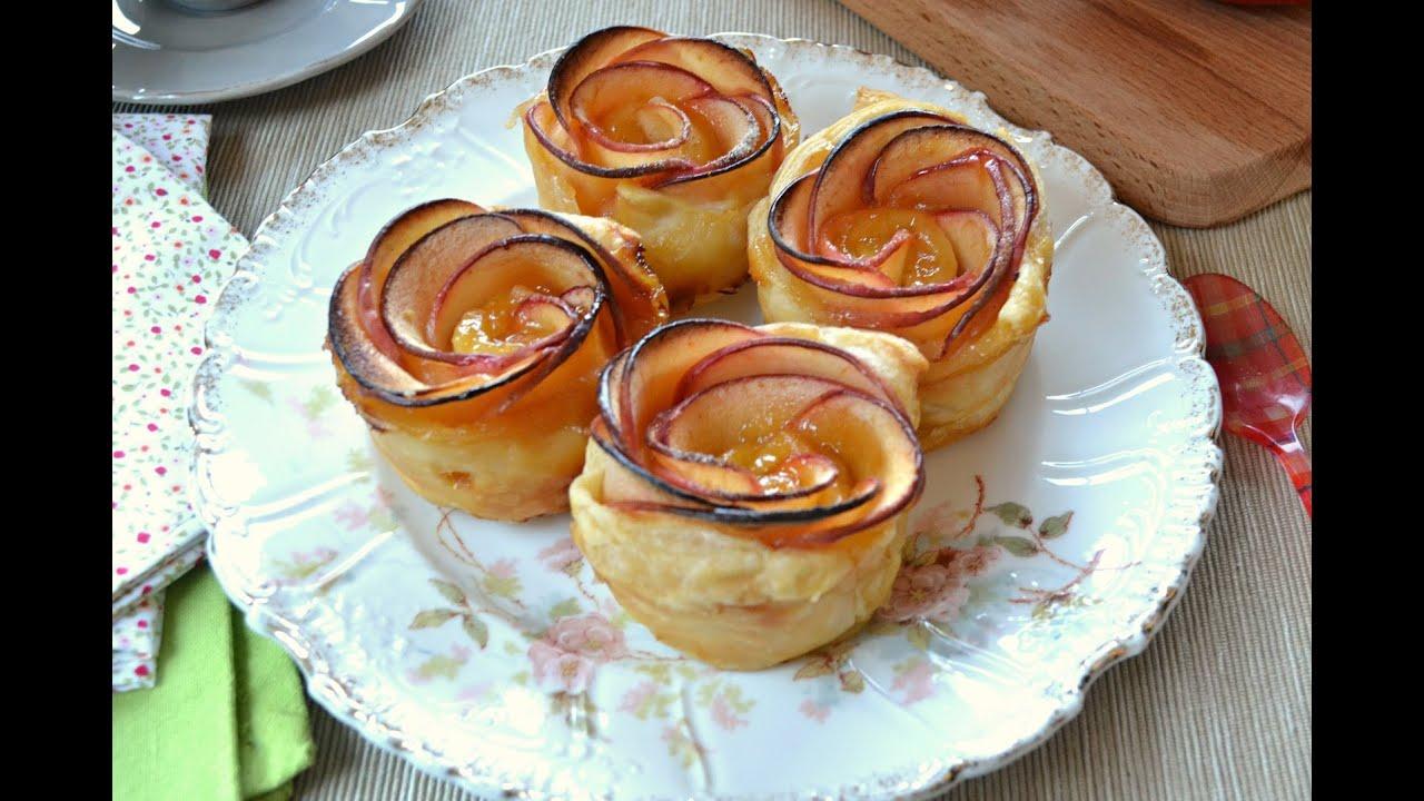 Rosas de manzana y hojaldre postre r pido youtube - Blog de postres faciles ...