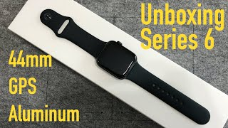 Unboxing & first review of the new Apple Watch Series 6 44mm space gray Aluminum black GPS