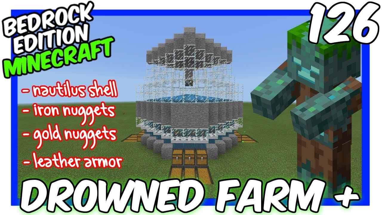 Zombie Spawner AFK & XP Farm Tutorial [Minecraft Bedrock Edition