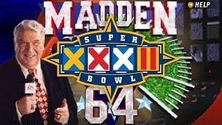 SUPER BOWL SUNDAY XXXII - Madden Football 64 - Green Bay Packers vs. Denver Broncos at San Diego