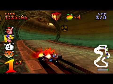 Crash Bandicoot Team Racing CTR Sewer Speedway 45 sec laps