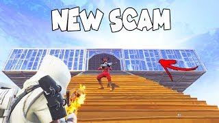 *NEW SCAM* Base Collapse From Sky! (Scammer Gets Scammed) Fortnite Save The World