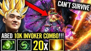 Invoker EPIC COMBAT [1 vs 5] ABED Using DOUBLE Refresher - Unbelievable!! What a Game