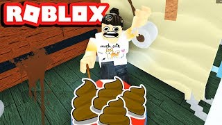 FORCED TO CLEAN UP POOP (ROBLOX FAST FOOD EATING SIMULATOR)