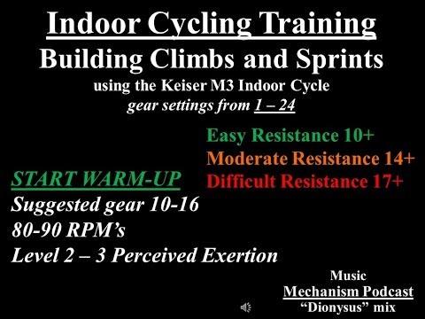 Spin Indoor Bike Routine: Climbs & Climbing Sprints