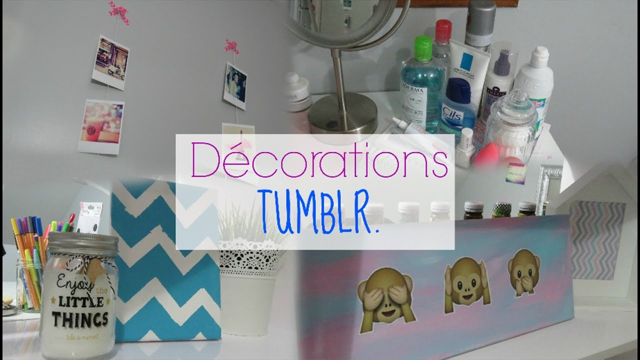 DIY│TUMBLR Room Decor (français) - YouTube