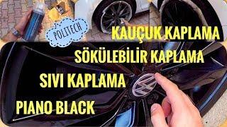 (0.44 MB) Jantları Piano Black Kapladık | Politech | Sıvı - Sökülebilir - Kauçuk - Parlak Kaplama Mp3