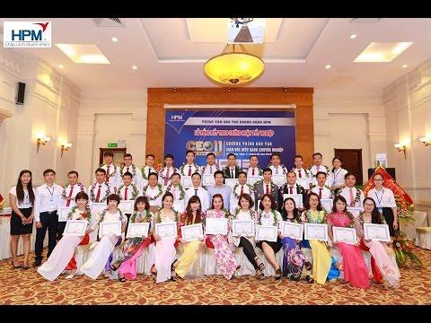 Ông Bùi Xuân Tiến phát biểu tại Lễ Tổng kết Lớp Giám Đốc Điều Hành CEO 11 tại Hải Phòng
