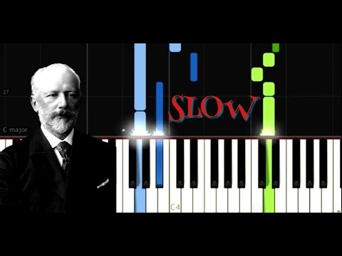 Tchaikovsky - Neapolitan Song from Children's Album, Op 39, No 19 - Easy Piano Music - SLOW