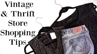 VINTAGE & THRIFT STORE SHOPPING TIPS + Haul