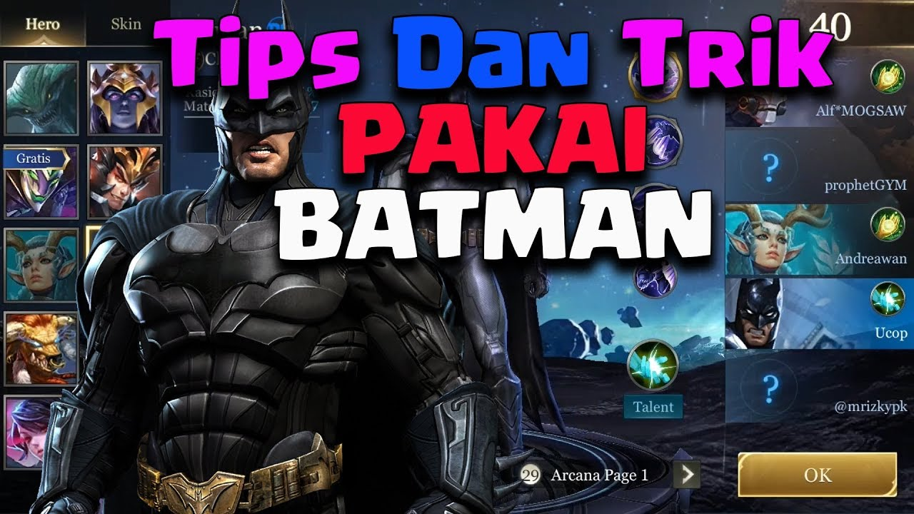 Arena Of Valor Pakai Batman Build Pro Player Aov Indonesia