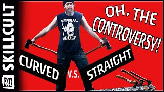 COMMONLY AXED QUESTIONS: Straight vs Curved Axe Handles, Oh, the Controversy!