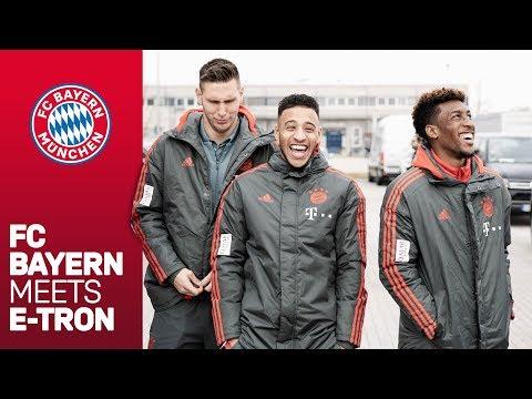 Süle, Tolisso, Coman & Co. discover e-mobility   FC Bayern meets e-tron