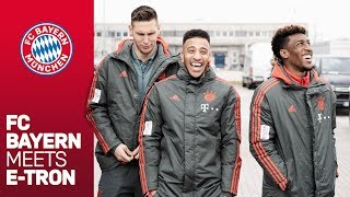 Süle, Tolisso, Coman & Co. discover e-mobility | FC Bayern meets e-tron