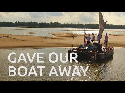 WE GAVE OUR BOAT AWAY - Recycled Mississippi #22