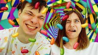 #ЧЕЛЛЕНДЖ с конфетами! ВКУСНО ИЛИ УЖАСНО?! #Конфеты с ужасным вкусом Федя и Вика #ЛучшиеПодружки