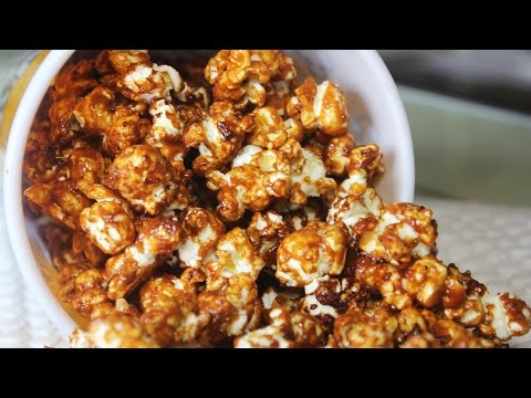 Caramel Popcorn | Flavoured Popcorn | Easy Homemade Popcorn Recipe | Kanak's Kitchen