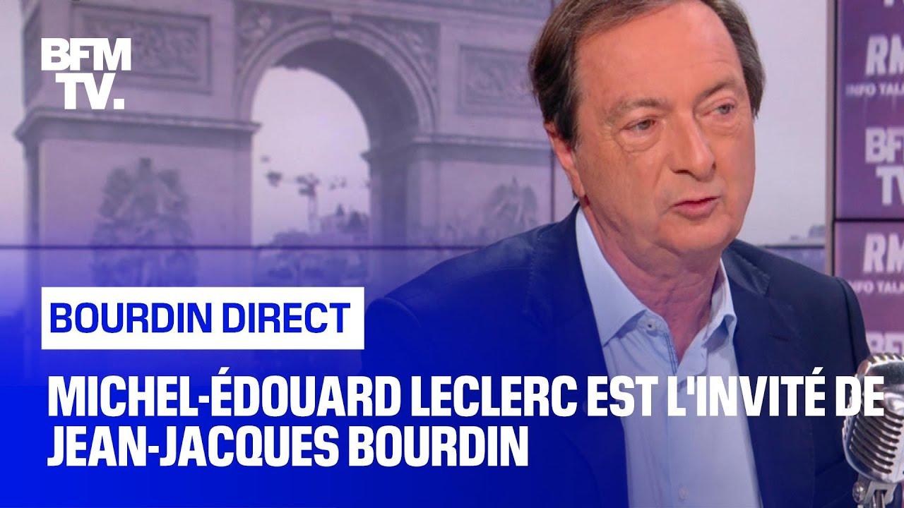 michel edouard leclerc face a jean jacques bourdin en direct
