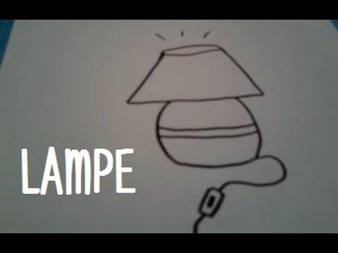 Dessiner une lampe de chevet youtube - Comment accrocher une lampe au plafond ...