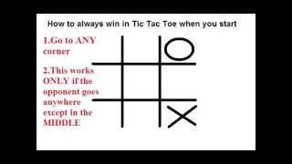 How to always WÏN in Tic Tac Toe