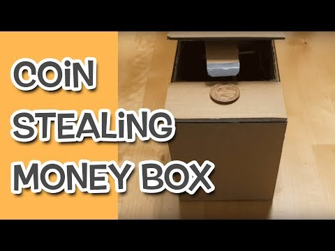 Coin Stealing Money Box DIY from Cardboard