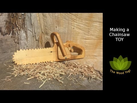 How to make a Chainsaw Toy - Woodworking Project